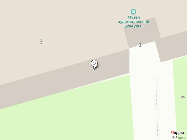 Государственный музей художественной культуры Новгородской земли на карте Великого Новгорода