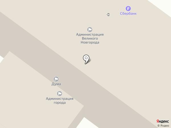 Новгородская городская общественная организация ветеранов (пенсионеров) войны, труда, вооруженных сил и правоохранительных органов на карте Великого Новгорода