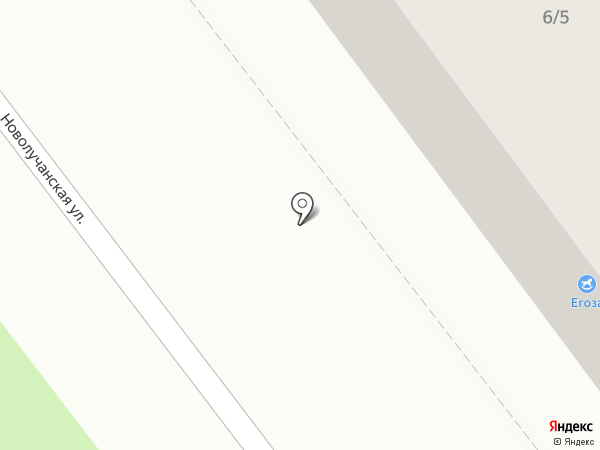 Егоза на карте Великого Новгорода