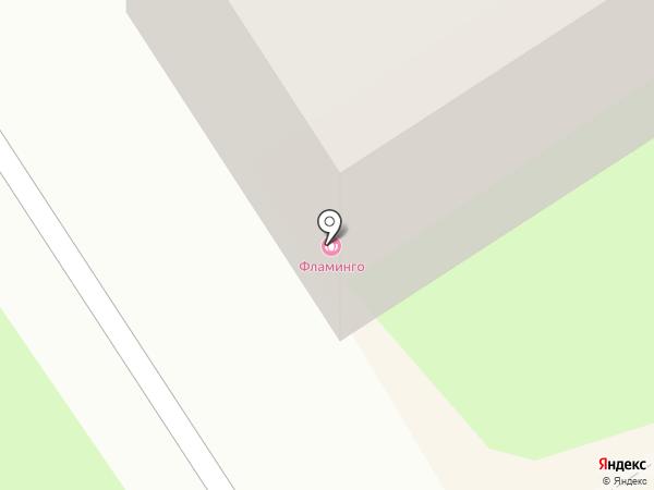 Фламинго на карте Великого Новгорода