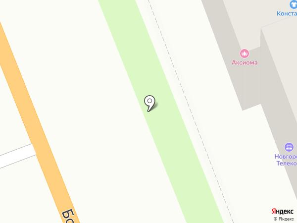 Аксиома на карте Великого Новгорода