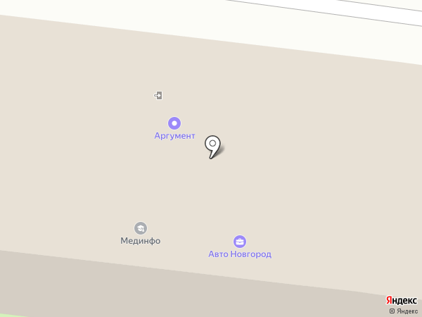 Акцент на карте Великого Новгорода