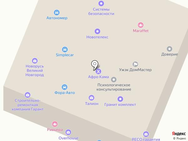 Гута на карте Великого Новгорода