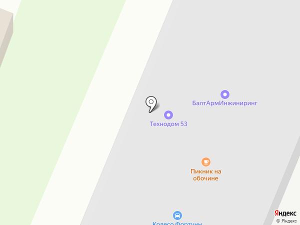 Васильки на карте Великого Новгорода