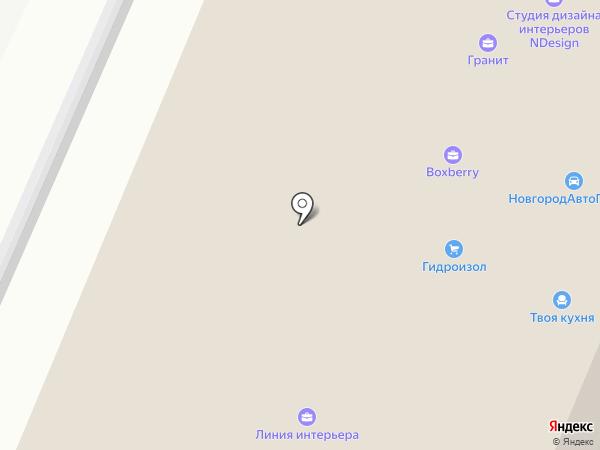 ЭкоСити на карте Великого Новгорода