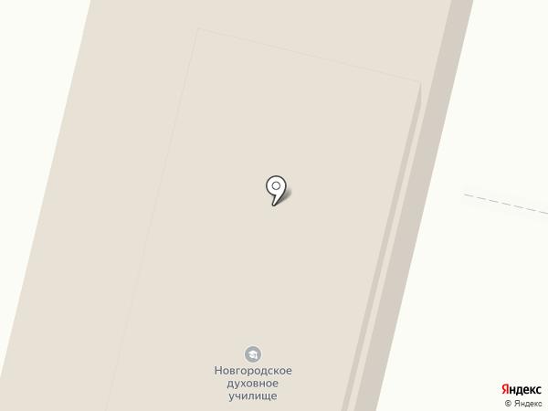 Свято-Юрьев мужской монастырь на карте Великого Новгорода