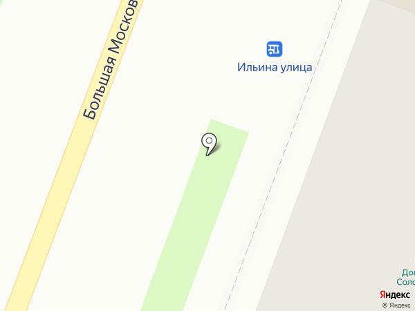 Кафе на Славне на карте Великого Новгорода