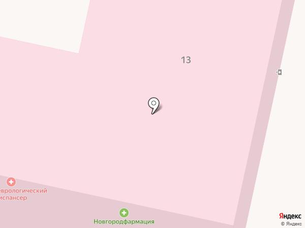Бюро медико-социальной экспертизы на карте Великого Новгорода