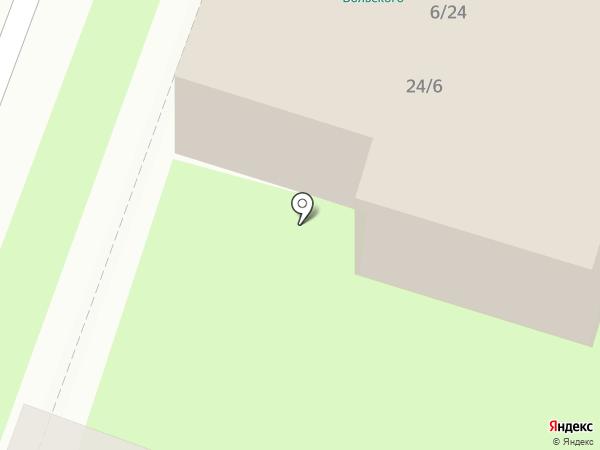 Цирюльник на карте Великого Новгорода