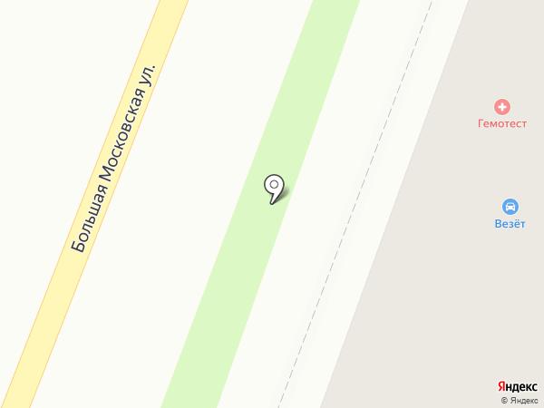 Везёт на карте Великого Новгорода