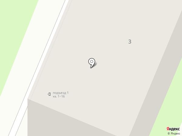 Адреевская д.3 на карте Великого Новгорода