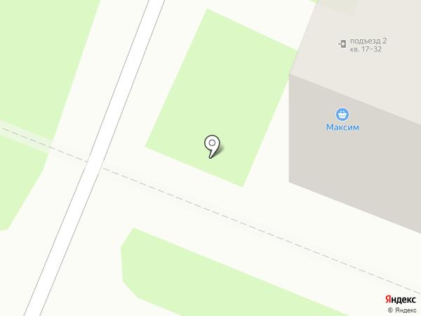 Максим на карте Великого Новгорода