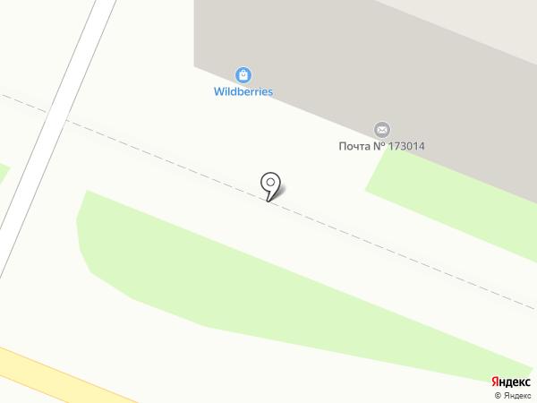 Почтовое отделение №14 на карте Великого Новгорода