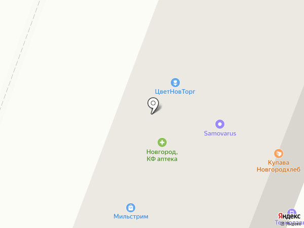 Бутони на карте Великого Новгорода
