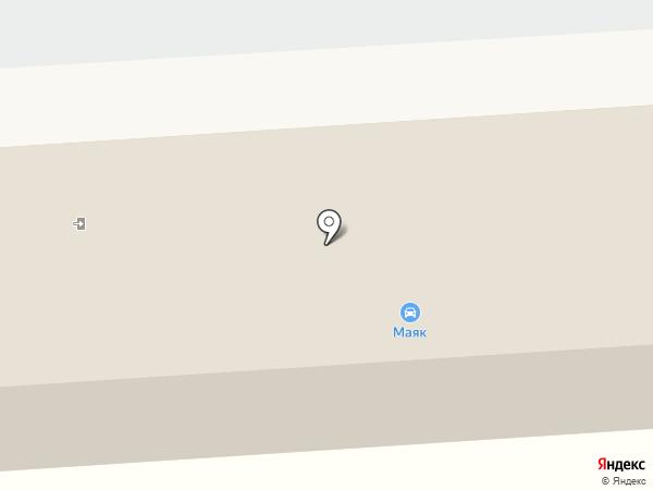 Маяк на карте Великого Новгорода