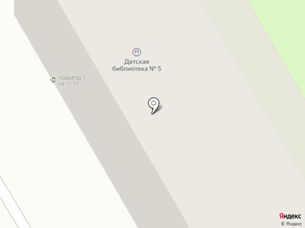 Детская библиотека №5 на карте Смоленска