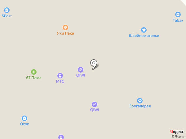 Яки Паки на карте Смоленска