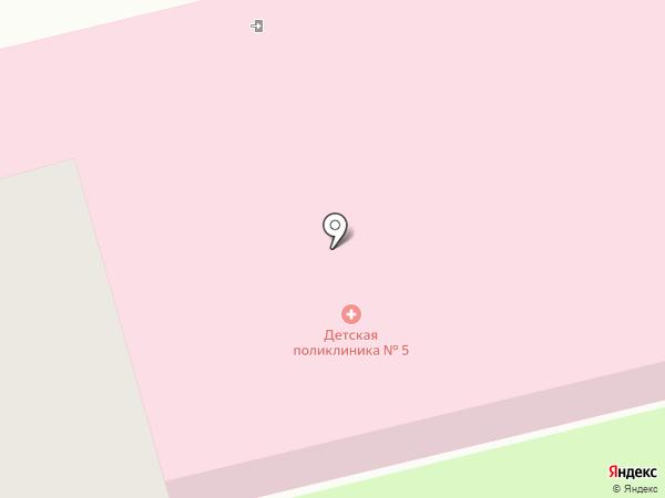 Детская поликлиника №5 на карте Смоленска