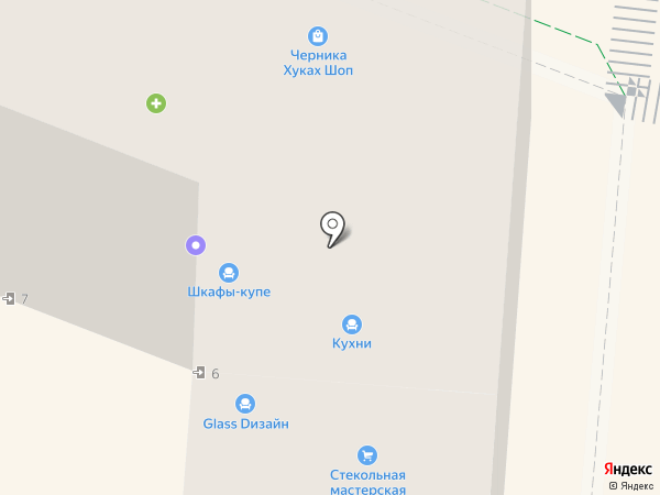 Чулок на карте Смоленска