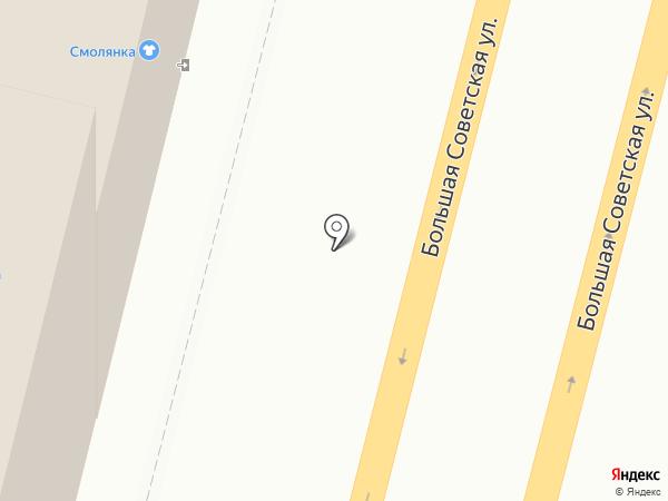 Смолянка на карте Смоленска