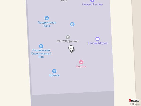 Московский институт государственного управления и права на карте Смоленска