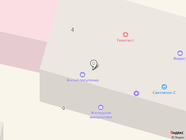 Хозрасчетная поликлиника на карте Смоленска