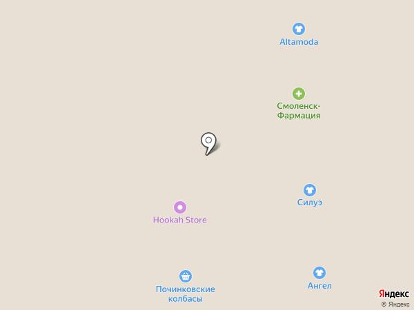 Специаль на карте Смоленска