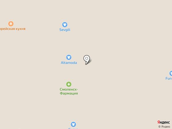 Смоленск-Фармация на карте Смоленска
