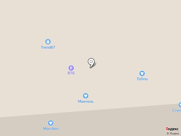 Мантель на карте Смоленска