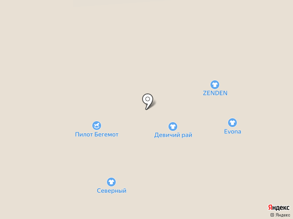 Девичий рай на карте Смоленска