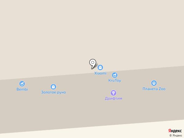 Любопытный ослик на карте Смоленска