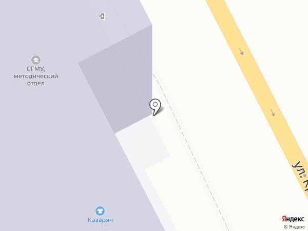 Столовая №15 на карте Смоленска