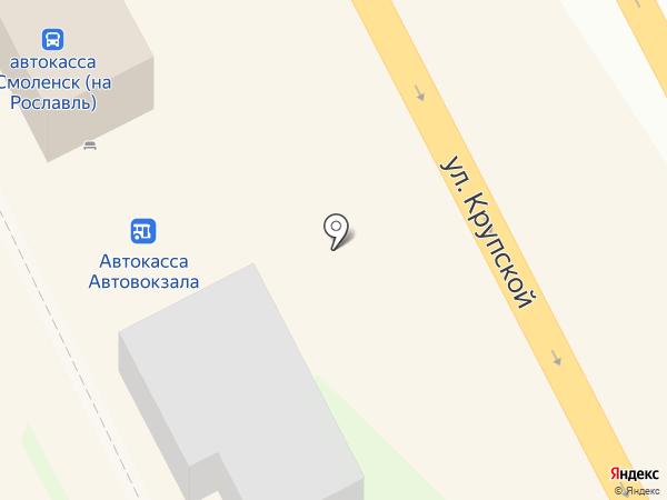 Автовокзал на карте Смоленска
