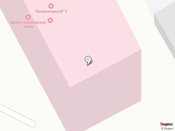 Поликлиника №3 на карте Смоленска
