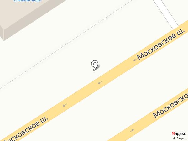 СмолАвтоКарт на карте Смоленска