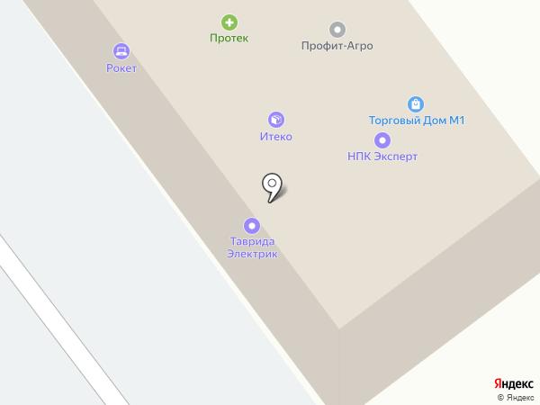 Адамас-Т на карте Смоленска