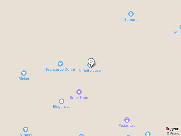 Капризуля на карте Смоленска