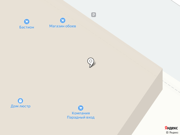 Столовый ряд на карте Смоленска
