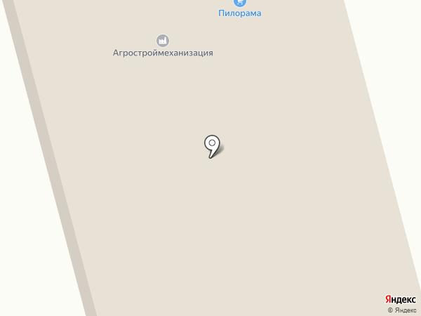 Пилорама на карте Смоленска