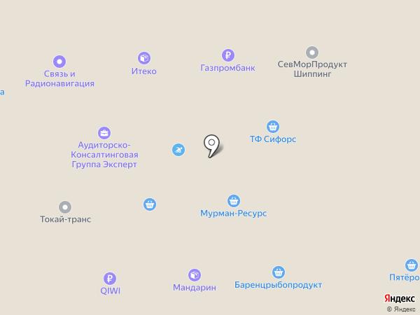 Морское агентство МАРП, ЗАО на карте Мурманска