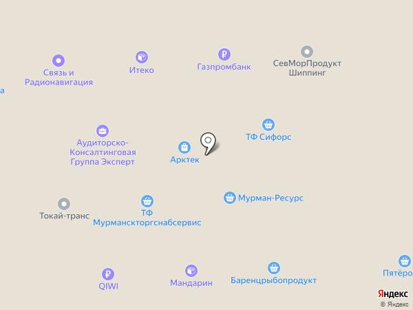 Арктик-Фиш на карте Мурманска