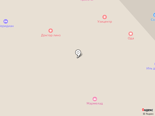 Флоранж на карте Мурманска