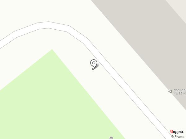 Участковый пункт полиции №1 на карте Мурманска