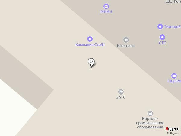 ЗАГС г. Мурманска на карте Мурманска
