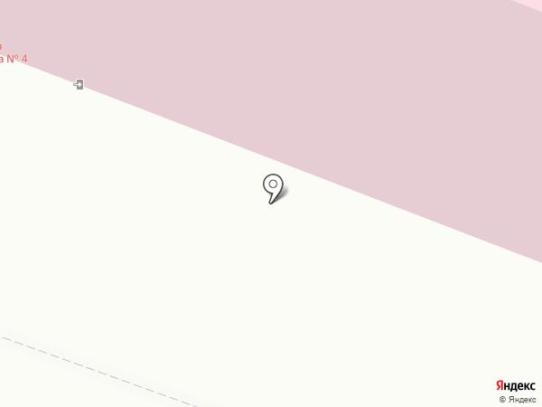 Детская поликлиника №4 на карте Мурманска