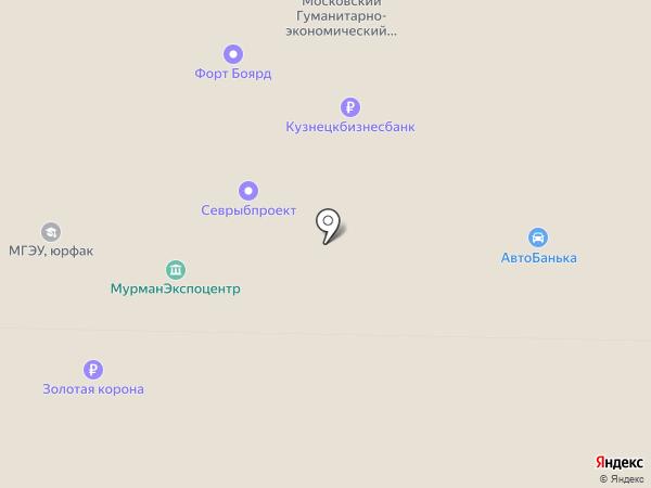 НорМан на карте Мурманска
