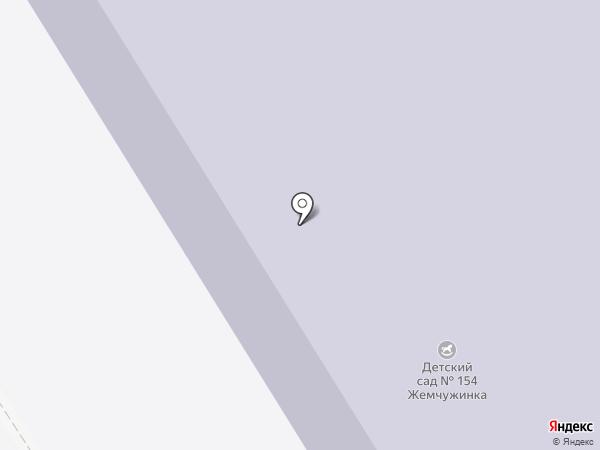 Детский сад №154 на карте Мурманска