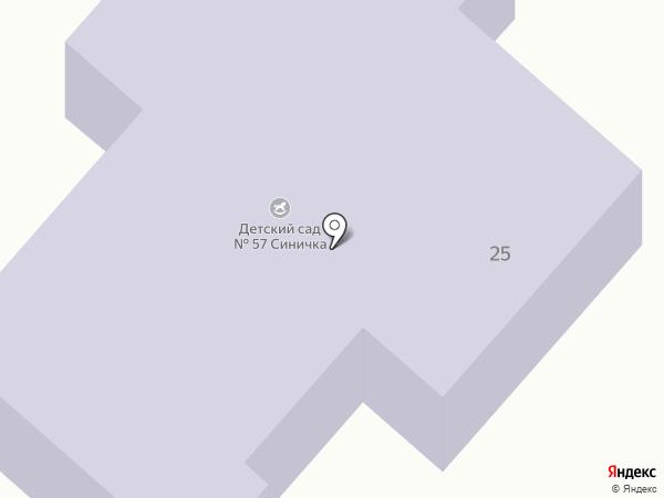 Детский сад №57 на карте Брянска