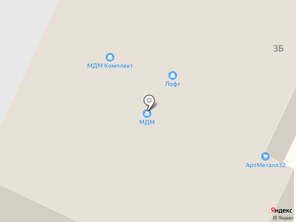 МДМ-Комплект Брянск на карте Брянска
