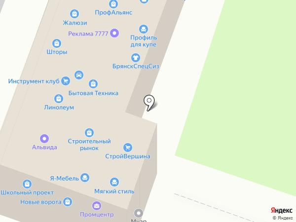 Мягкий стиль на карте Брянска